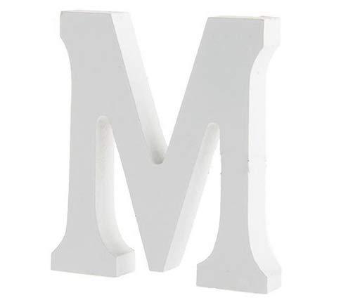 YUNA Legno Lettere A-Z Retro Fai da Te Decorazione per la casa caffetteria Abbigliamento Negozio Feste di Matrimonio Bianco, Altezza 8 cm, Legno, White, Large (M)