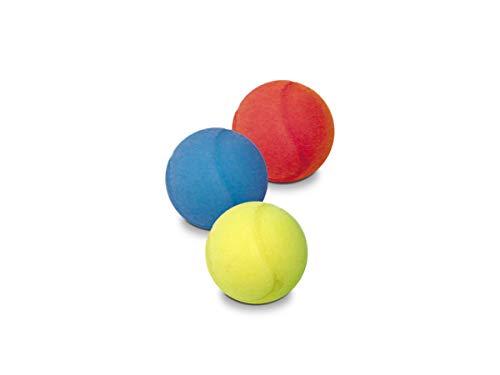 Mondo-14861 Mondo Toys-Palla di spugna per bambini-3 palline morbide per giocare in casa-14861, Multicolore, 1, 14861