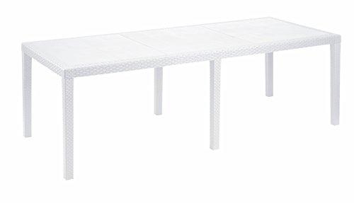 Ipae-Progarden S.P.A. IPAE-PROGARDEN Tavolo da Giardino Allungabile in Polipropilene-Modello Queen, 1, Bianco