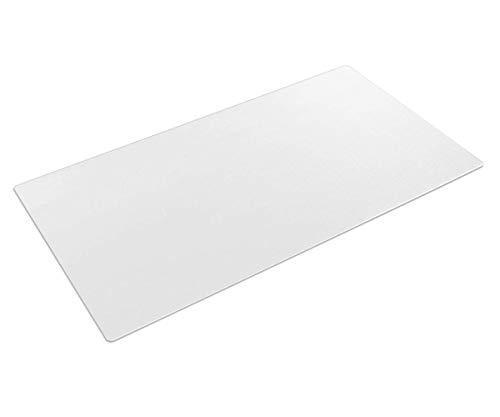 Tappetino da scrivania trasparente da 90 x 40 cm, in PVC testurizzato, impermeabile, con bordi arrotondati, per scrivania, scrivania, casa, scrivania