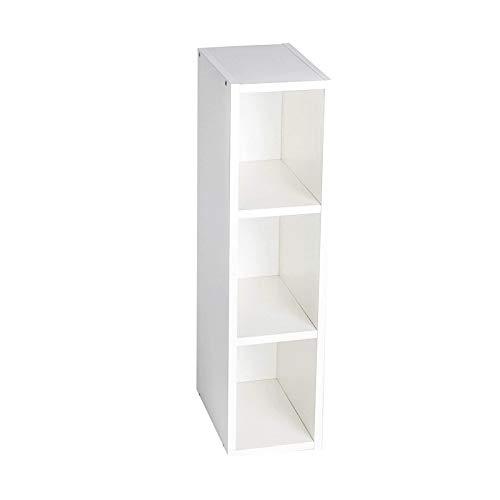 Scaffale Puckdaddy Max - 19x30x97 cm, scaffale in legno bianco da abbinare alle cassettiere IKEA Malm, scaffale a scomparti per fasciatoio, scaffale per fasciatoio
