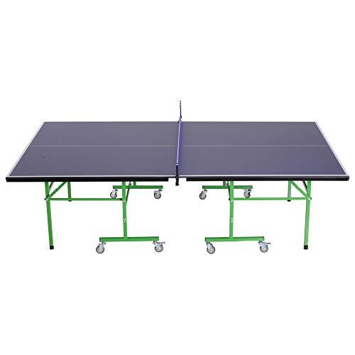 homcom Tavolo da Ping Pong Professionale Pieghevole Interno Esterno con 8 Ruote 152.5 × 274 × 76cm
