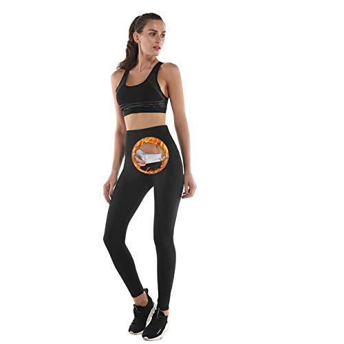 NHEIMA Pantaloni Dimagrante Donna Sportive Vita Alta, Leggings Anticellulite Donna Fitness, NANOTECHNOLOGIE : Fa Sudare e Effetto Snellente e Push Up, Idele per Yoga Running Palestra (M)