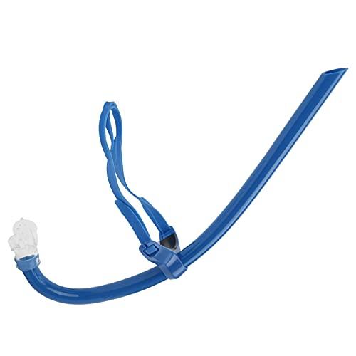 Deror Snorkel da Nuoto, boccaglio Montato frontalmente con Silicone, boccaglio per l'allenamento del respiro(Blu)