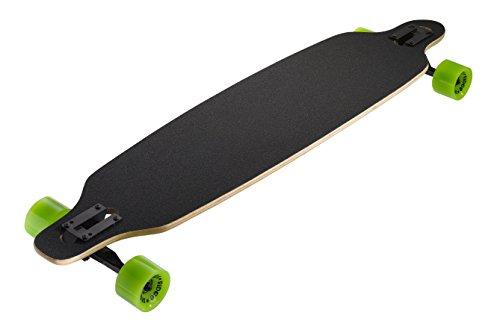 Ridge Skateboards Monster Twin Tip Longboard Skateboard, Nero, 41'