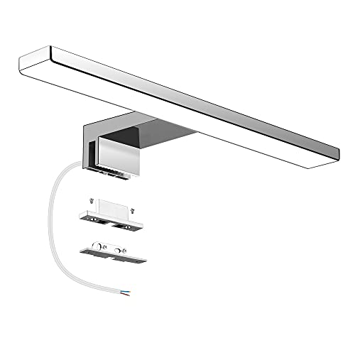 Aourow LED Lampada da Specchio 5W,Luce Specchio Bagno Bianco Neutro 4000K,Specchio Armadio Lampada da Bagno,Luce per Trucco,Lunghezza 30cm,230 V IP44,500lm