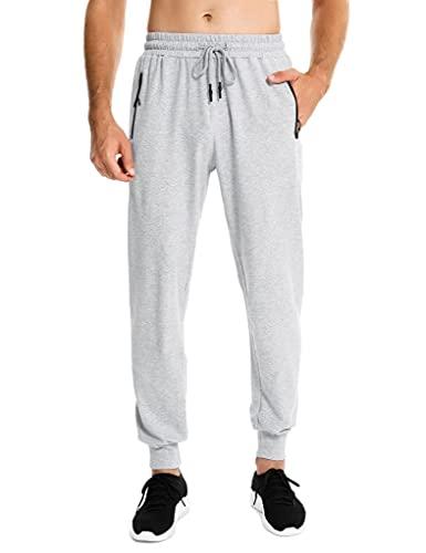 Sykooria Pantaloni Sportivi Uomo Cotone con Tasche Pantaloni Tuta Uomo Coulisse per Casual Jogging Palestra