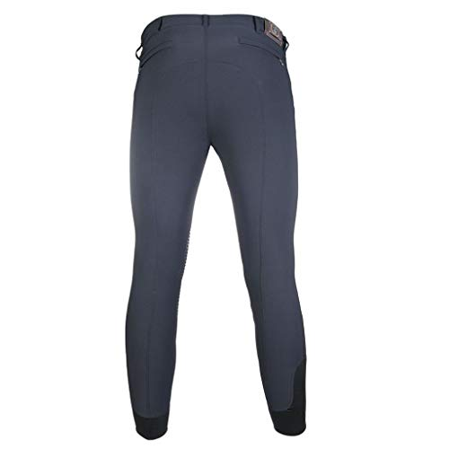 HKM 4057052398087 - Pantaloni da Equitazione da Uomo, in Silicone, Colore: Grafite 54, 9602, 54, Colore: Grafite