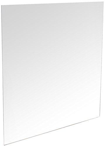 Mungai Mirrors - Specchio Quadrato in Acrilico, in plastica, Colore: Argento, Dimensioni: 45 cm