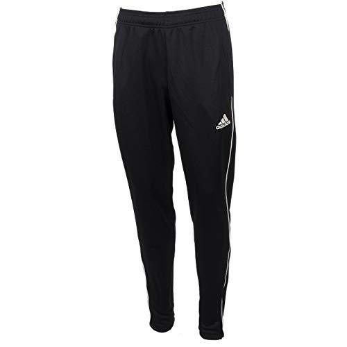 adidas Pantaloni sportivi da uomo CORE18 TR PNT, neri (neri / bianchi), L.