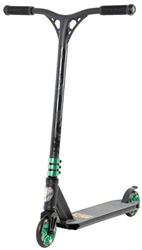 STAR SCOOTER Premium Freestyle Stuntscooter Monopattino Eccezionale Prezzo-Prestazioni | Edizione 110mm Semiprofessionale | Nero (Opaco) & Verde