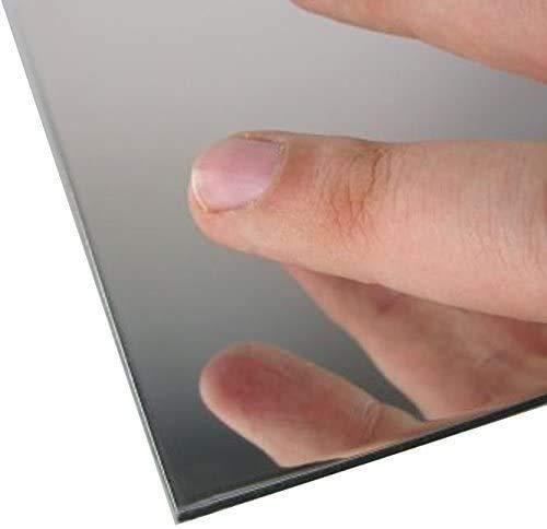 Lastra in plexiglas a specchio in plexiglas a specchio, in materiale plastico A5, A4, A3, 500 x 500 mm (2 pezzi A4 (297 mm x 210 mm).
