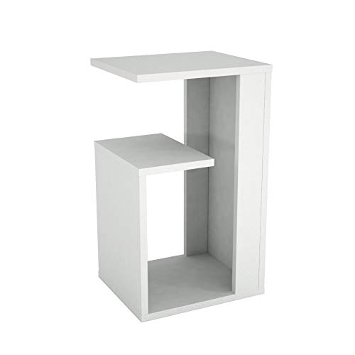 Alphamoebel Tavolini, Legno ingegnerizzato, Bianco, 35 x 29,5 x 60 cm