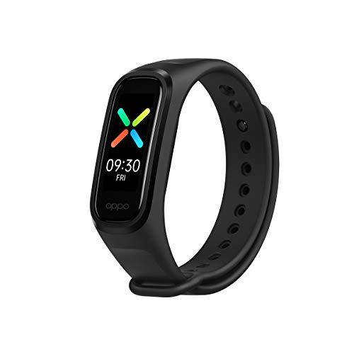 OPPO Band Sport Tracker Smartwatch con Display AMOLED a Colori 1.1'' 5ATM Carica Magnetica, Impermeabile 50m, Pedometro Fitness Cinturino Cardiofrequenzimetro, Versione Italia, Colore Black