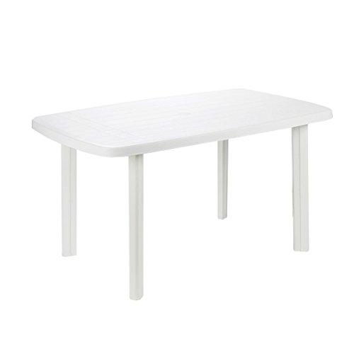 PROGARDEN 9694329 Tavolo conponibile, Bianco, 137 x 85 x 72 cm