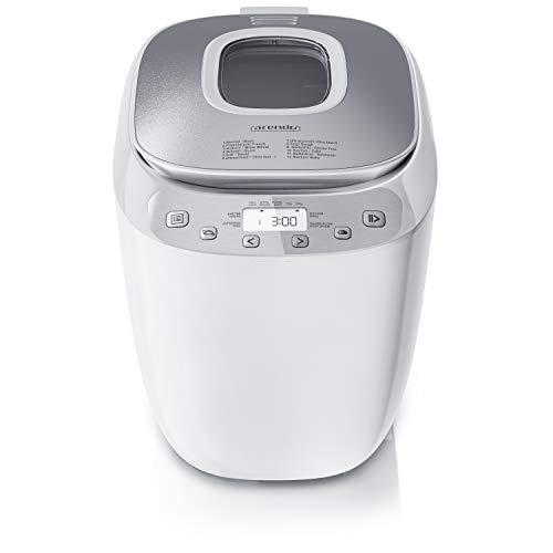 Arendo 681668161 - Macchina per il pane senza BPA, in acciaio INOX 18/8, bianco/argento