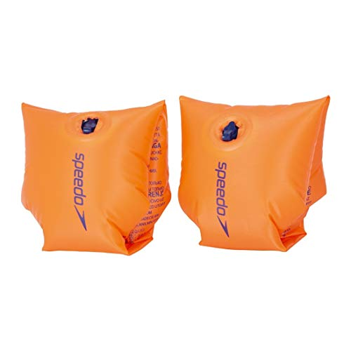 Speedo Fascia da braccio gonfiabile, Arancione, 6 - 12 anni