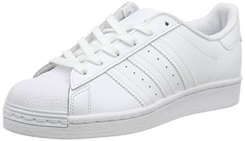adidas Superstar J, Scarpe da Ginnastica, Ftwr White/Ftwr White/Ftwr White, 37 1/3 EU