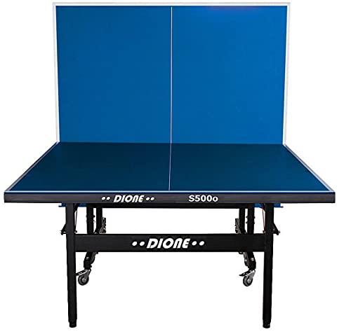 Dione S500o - Tavolo da ping pong, superficie da 6 mm, pieghevole e adatto per esterni, resistente alle intemperie, peso 55 kg, montaggio in 10 minuti