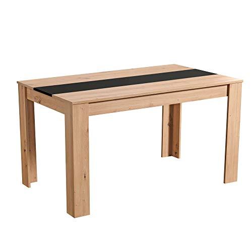 AK&M Alberboia Tavolo da Pranzo, Wood, Rovere e Nero, Medium