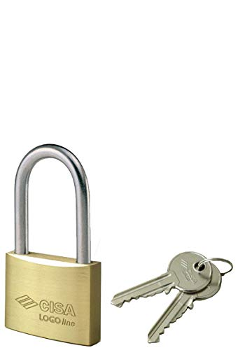 Cisa 0950093 Lucchetto Arco Lungo Locking Line, Ottone, 40 mm