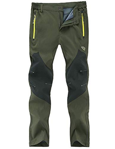 Freiesoldaten Uomo All'aperto Pantaloni Arrampicata Cargo Softshell Leggero Traspirante Pantaloni