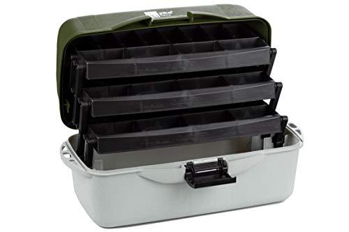 Zite Fishing Grande Valigetta da Pesca a 3 Scomparti - XXL Tackle Box 50cm - Borsa & Cassetta di Immagazzinaggio