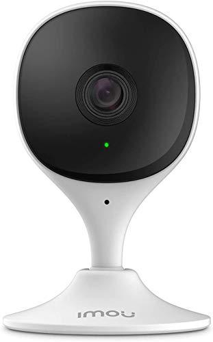 Imou Telecamera Wi-Fi Interno, Telecamera di Sicurezza con Rilevazione del Movimento Umano & Visione Notturna, 1080P Baby Monitor, Allarme di Suoni Anormali, Compatibile con Alexa/Google, Cue 2C