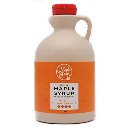 Puro sciroppo d'acero Canadese Grado A (Very dark, Strong taste) - 1 litro (1,32 Kg) - Original maple syrup - Puro succo d'acero
