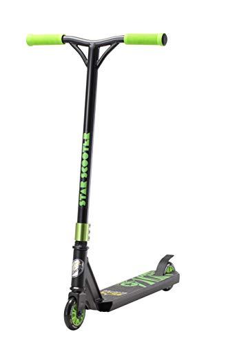 STAR SCOOTER Premium Freestyle Stuntscooter Monopattino Eccezionale Prezzo-Prestazioni | Edizione 100mm Evoluto Accesso | Nero (Opaco) & Verde