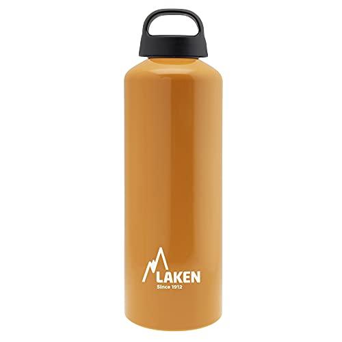 Laken Classic Borraccia di Alluminio Bottiglia d'acqua con Apertura Ampia e Tappo a Vite con Impugnatura, 1L, Arancia