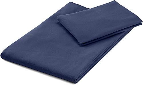 Amazon Basics - Set di asciugamani in microfibra composto da 1 asciugamano da bagno e 1 asciugamano da mani