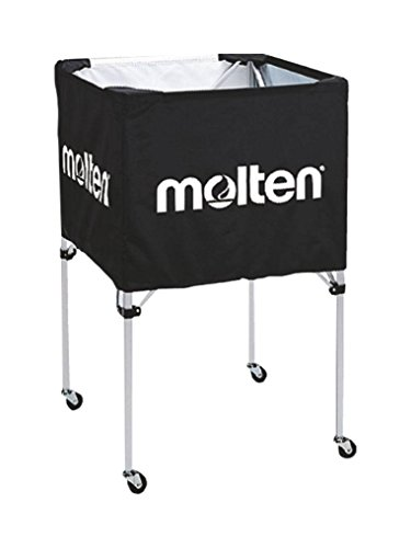 Molten Ballwagen-bk0012-k, Carrello per palloni Unisex-Adulto, Nero, 64 x 64 x 64 cm