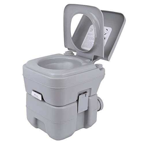 Samger 20L WC da Chimico Campeggio Toilette Portatile Gabinetto Bagni Chimici da Campeggio capacità di carico Massima 130KG WC Chimico Portatile per Casa, Camper, All'aperto