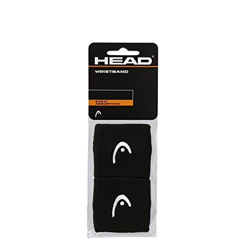 HEAD Polsino da 2.5�, Accessori Tennis Unisex Adulto, Nero, taglia unica