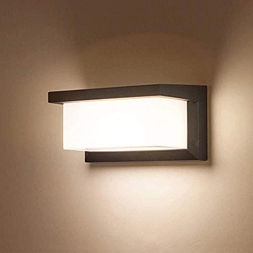 Combuh Lampada da Parete a LED Impermeabile IP65 12W Alluminio Applique da Esterno Adatto a Giardino Portico Bagno Portico Garage Bianco Caldo 3000K 260 * 125 * 125MM