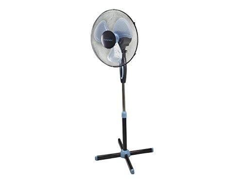 Beper P206VEN100 Ventilatore a Piantana, 35 Watt, Metallo /ABS, Diametro 40 cm, 3 Pale,3 Velocità, Oscillazione e Inclinazione regolabile, Nero