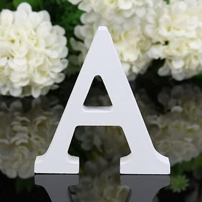 TIANSHU Lettere decorative in legno, 26 lettere alfabeto in legno Lettera da parete per bambini Nome del bambino Camera per ragazze Matrimonio Festa, Lettere d'amore in legno fai da te (lettera: A)