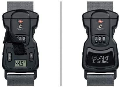 Elari Smart Belt Cinghia Bagagli Durevole Stretto con Bilanciamento Digitale Incorporato al Peso Bagagli Fino a 38 kg e Serratura Digitale con Master-Chiave TSA-Conforme