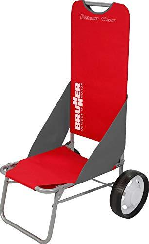 BRUNNER Beach Cart Rosso, Carrello da Spiaggia e Mare