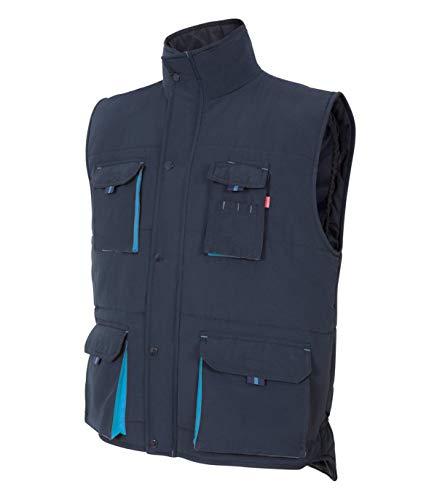 VELILLA 205902 61/5 3XL - Gilet imbottito bicolore multitasche blu navy, taglia 3XL