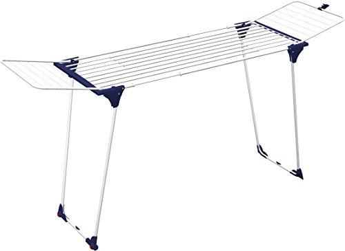 GIMI Dinamik 30 Stendibiancheria da Pavimento, Stendino Estensibile, Spazio di Stenditura 27 m, Adatto per Lenzuola e Tovaglie, con Ruote, Acciaio, 186 - 257 x 57 x 100 cm