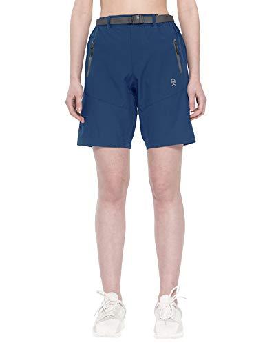 Little Donkey Andy - Pantaloncini cargo elasticizzati da donna, ad asciugatura rapida, per escursionismo, campeggio, viaggi, taglia XL, colore: blu navy