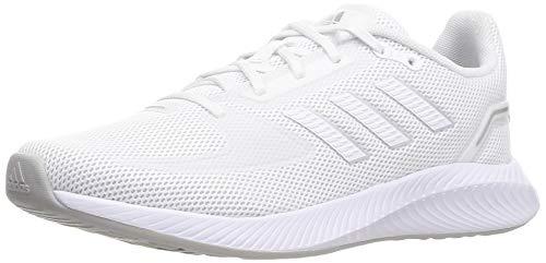adidas RUNFALCON 2.0, Scarpe da Corsa Donna, Ftwr White/Ftwr White/Silver Met, 40 2/3 EU