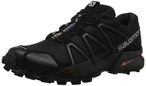 Salomon Speedcross 4 Uomo Scarpe da trail running, Nero (Black/Black/Black Metallic), 44 EU