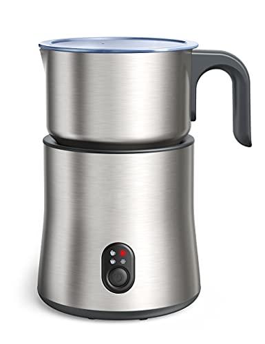 Montalatte elettrico, 500ml Montalatte automatico rimovibile in acciaio inossidabile 4in1 Schiuma di latte calda e fredda, cioccolata calda, contenitore del latte senza fili, lavabile in lavastoviglie