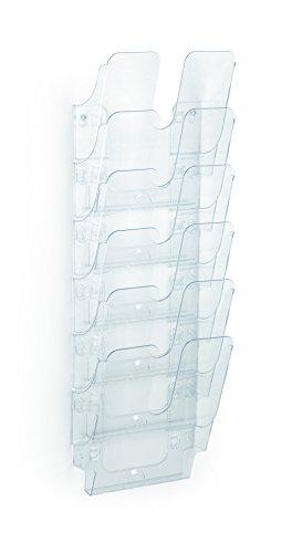Durable 1700008401 Flexiplus 6 A4, Espositore da Parete, A4 Verticale, 6 Comparti, Trasparente