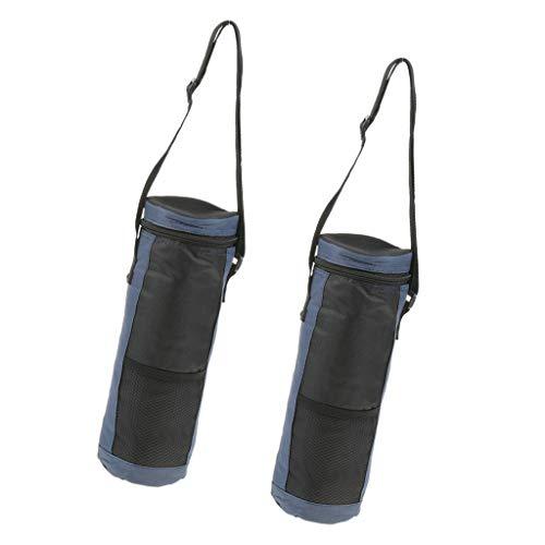 SM SunniMix 2pcs Borsa per Bottiglia d'Acqua Borsa Termica con Isolamento Impermeabile per Campeggio Picnic Viaggio
