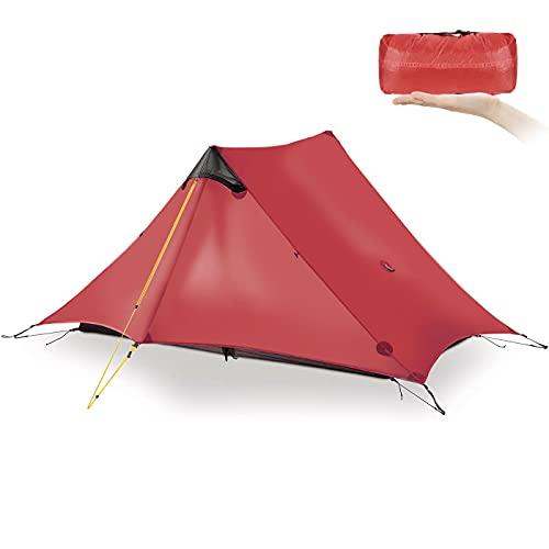 KIKILIVE Nuovo LanShan Outdoor Ultralight Tenda da Campeggio 1Persone / 2 Persone Mesh Tent Shelter -Perfetto per Il Campeggio, Backpacking e Thru-Hikes