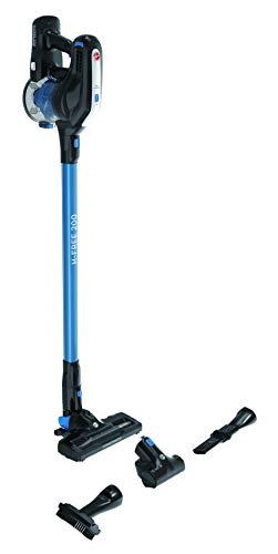 Hoover H-FREE 200 HF222UPT Scopa Elettrica Ricaricabile senza Fili, Tecnologia Ciclonica, Multifunzione, con Spazzola per Peli Animali, Batteria da 22V, Autonomia 40 Min, Leggera, Nero e Blu